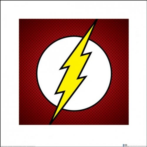 The Flash - DC Comics Art Print / Poster (Textured Logo) (Size: 16