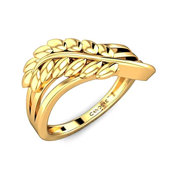 Buy Candere By Kalyan Jewellers Yellow Gold Irene Ring 22k in India 2020