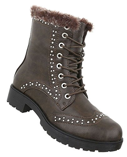 Elegante Stiefel | Damen Boots | Elegante Spitze Stiefel | Stilettoabsatz Langschaft Stiefel | Leder-Optik Stiefel | hochwertige Stiefel | Schuhcity24 Hellbraun