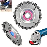 Angle Grinder Disc 22 Tooth Chain Saw Carving Blade Plate 4' for Wood Cutting Chainsaw Wheels Cutter 100/115mm Circular Woodworking Engraving Tool