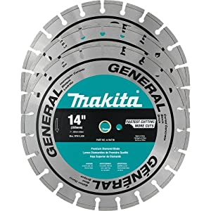 Makita A-94932 14-Inch Contractor Diamond Blades, 3-Pack