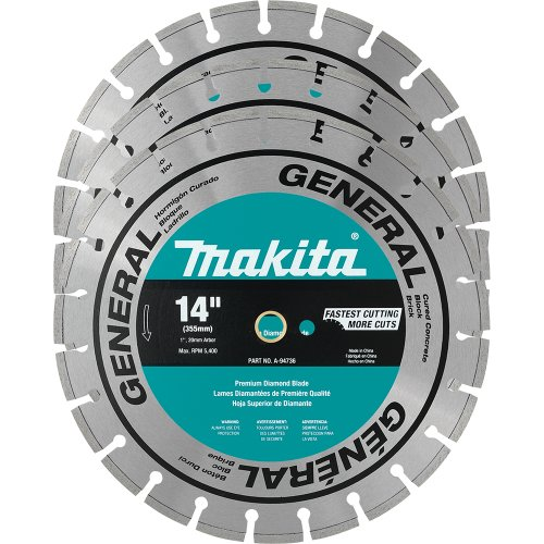 - Makita A-94932 14-Inch Contractor Diamond Blades, 3-Pack