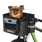 Lixada Bike Basket,Folding Pet Cat Dog Carrier Front Removable Bicycle...