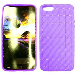 Apple IPhone 5 Tpu 048 Purple Case Cover Snap On Faceplate New Hard Protector