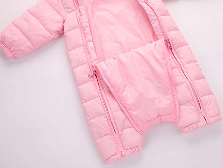 Baby Cotton Romper Toddler Thermal Winter Coat Double Zipper Windproof Snowsuit