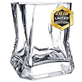 Whiskey Glasses Set of 4 in Gift Box- New Style Old Fashioned Drinking Glasses - Glassware set - Scotch Brandy or Bourbon Tumblers, 10.5 oz.