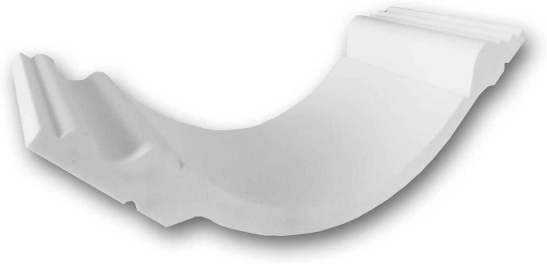 Orac Decor C338   High Density Polyurethane Foam Crown Moulding   Primed White   4in Sample Piece