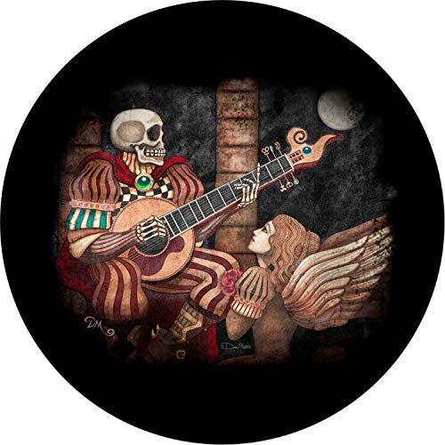 Tire Cover Central Eternal Skull Skeleton Serenade Angel Spare Tire Cover for 285/70R17 fits Camper, Jeep, RV, Scamp, Trailer(Drop Down Size menu Dan Morris(c) ()