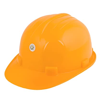Sourcingmap A14011400UX0129 - Casco de seguridad (plástico) color amarillo