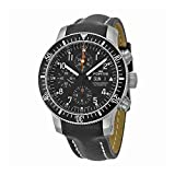 """Fortis Men's 638.10.11L.01 B-42 """"Official Cosmonauts"""" Stainless Steel and Black Leather Automatic Watch"""