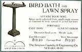 1922 AD FOR SIMPSON FOUNDRY BIRD BATH  a