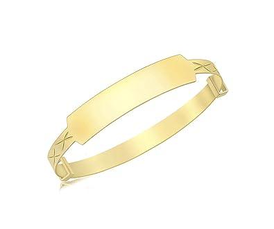 aaabf624f1f79 Carissima Gold 9 ct Yellow Gold Torque Bangle