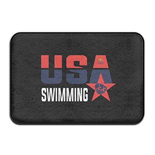 PTGIK USA Swimming At The 2016 Summer RIO Non-slip Doormat White