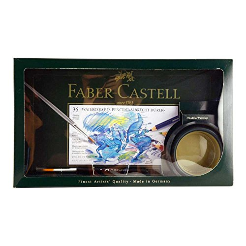 Faber-Castell Albrecht Durer Watercolor Set with Brush & Watercup, 36 Colors (FC217505)