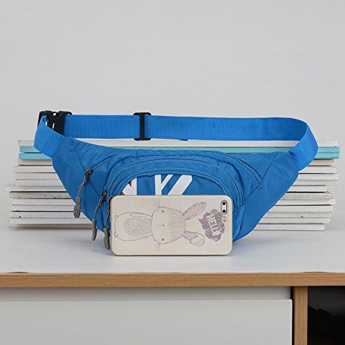 Fanny Pack SINOKAL Waist bag for Men Women Bum Bags Travel Hiking Hip Bum Waist Bag (Grey) by SINOKAL (Image #5)
