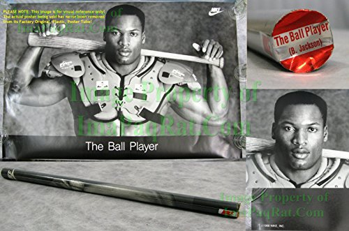 Original Vintage NIKE Poster Bo Jackson THE BALL PLAYER - Full Size 36