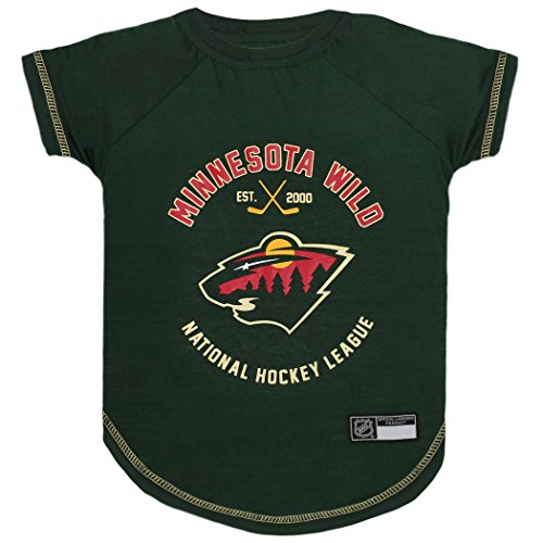 NHL MINNESOTA WILD Tee Shirt for DOGS & CATS, X-Small. - Are you a HOCKEY FAN? Let your Pet be an NHL FAN ()