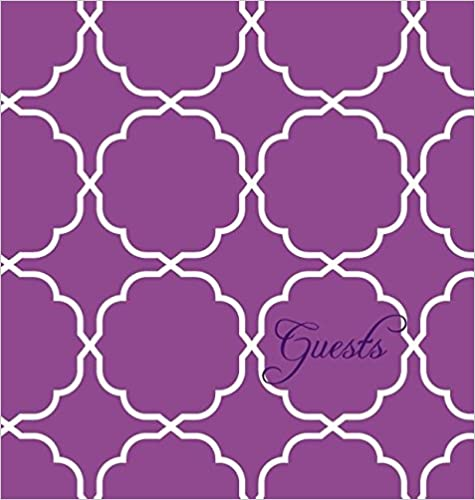 Modern Jen Guest Book and Anniversary Journal: Orchid Purple