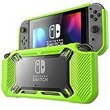 Mumba Nintendo Switch case, [Heavy Duty] Slim Rubberized [Snap on] Hard Case Cover for Nintendo Switch 2017 release (Green)