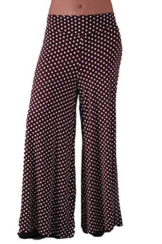 Pois Large Dot Desire Ladies Brown Palazzo Femme Jambe Clothing Pantalon New Mix lot 0Z7qwnxg