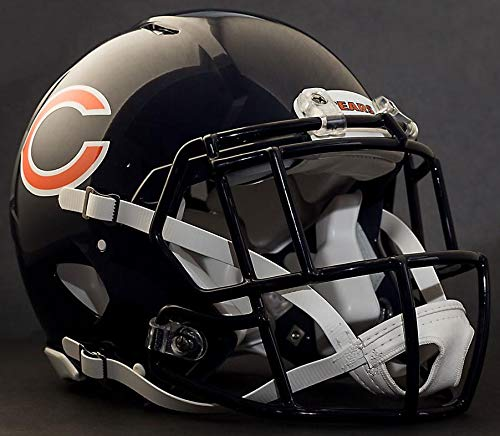 (Riddell Chicago Bears NFL Replica Football Helmet with S2EG-SW-SP Football Helmet Facemask/Faceguard)
