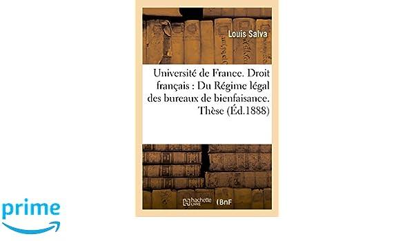 Université de france droit français du régime légal des bureaux