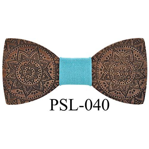 Men Hardwood Bow Tie Printing Classic Bowties Neckwear Creative Handmade Butterfly Wood Bow Tie Totem PSL-040