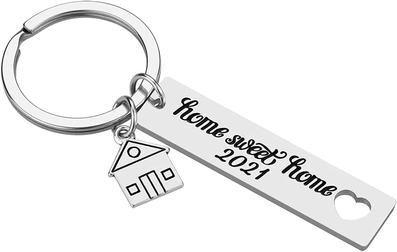 Home Sweet Home Key Chain - 2021 Home Sweet Home Housewarming Gifts New Home Gifts for Home