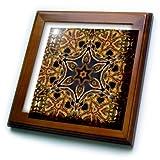 3dRose ft_42362_1 Turkish Decorative Flower Mandala-Framed Tile Artwork, 8 by 8-Inch