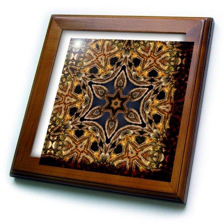 3dRose ft_42362_1 Turkish Decorative Flower Mandala-Framed Tile Artwork, 8 by 8-Inch by 3dRose (Image #1)