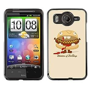 TopCaseStore / la caja del caucho duro de la cubierta de protección de la piel - Funny Minister Of Hot Dogs Burger - HTC G10