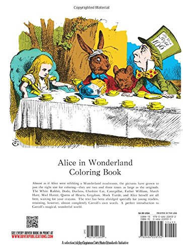 Alice In Wonderland Coloring Book Dover Classic Stories Lewis Carroll Books 0800759228539 Amazon