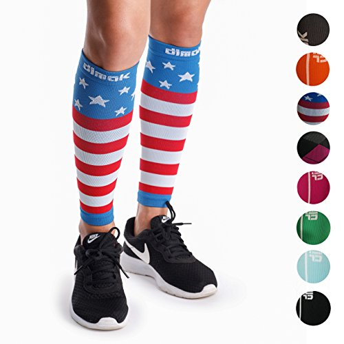dimok Calf Compression Sleeves Pair - Leg Compression Socks for Calves Running Women Men Kids Best for Shin Splint Muscle Pain Better Circulation ()