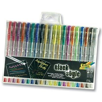 Glitter Neon 24 verschiedene Gelschreiber Gelstifte je 8x Metallic