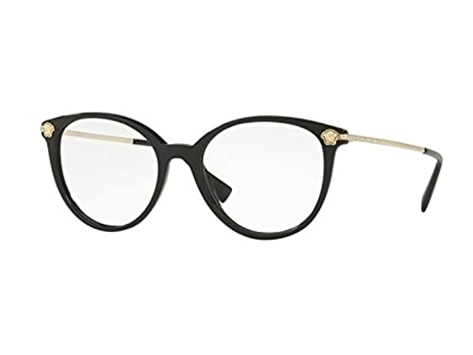 b3e9a72c50 Amazon.com  Eyeglasses Versace VE 3251 B GB1 BLACK  Clothing