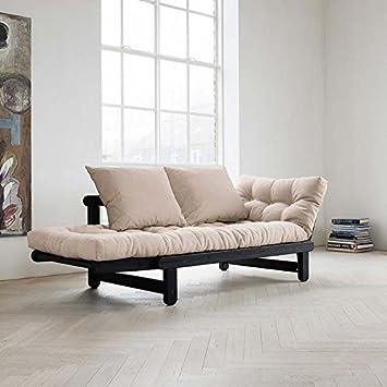 Sofá cama negro beat karup color Beige: Amazon.es: Hogar