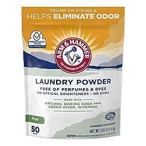 Gut Health Shop 51%2BN%2Bu4D-uL._SS300_ Arm & Hammer Odor Neutralizing Laundry Detergent Powder (50 Loads), 3.09 Pound