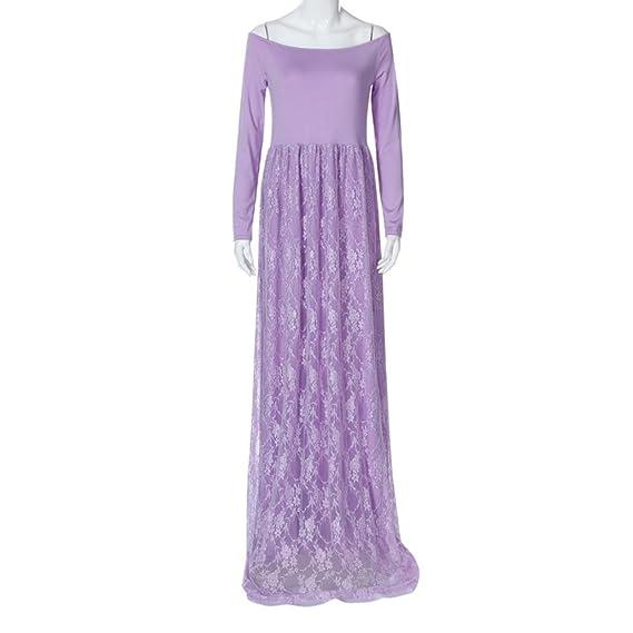 Amazon.com: ShiTou Pregnant Dress, Large Size Pregnant Women Strapless Lace Care Dress: Clothing