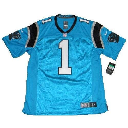 on sale d7daf 6b5df Signed Cam Newton Jersey - #1 Blue Nike Limited - JSA ...