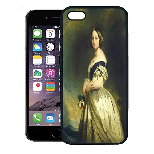 Semtomn Phone Case for iPhone 8 Plus case,Queen Victoria Franz Xaver Winterhalter Studio 1843 German English Painting Oil on Canvas Had Been iPhone 7 Plus case Cover,Black
