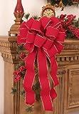 Christmas Bows -Set of 2 Red Velvet Gold Edged Bows