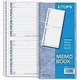 TOPS Memorandum Forms Book, 2-Part, Carbonless, 2 Memos per Page, 100 Sets per Book (4150)