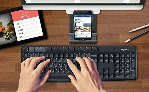 Logitech K375S Multi-Device Wireless Keyboard and Stand Comb