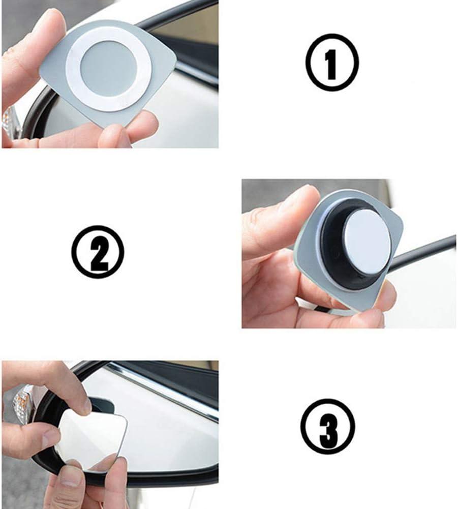 verstellbar universeller Auto-Weitwinkel-Seiten-R/ückspiegel HD-Glas runder Weitwinkel-Au/ßenspiegel ENticerowts 1 Paar Toter-Winkel-Spiegel