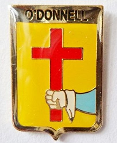 (O'Donnell Irish Ireland Family Surname Coat of Arms Pin Badge)