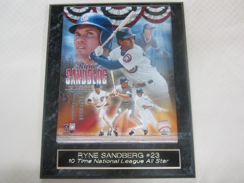 (Cubs Ryne Sandberg Hall of Fame Collector Plaque w/8x10 Color Photo )