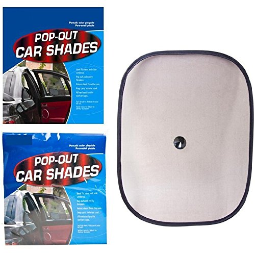 Auto Accessory 2 x Side Baby Child Pop Out Car Sun Shield Shades Protection Window UV