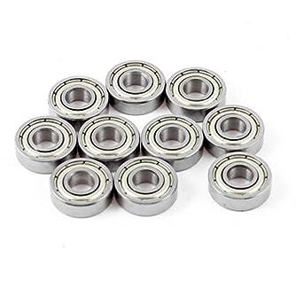 695Z bandejas metálicas de Doble cojinete de Bolas de ranura profunda 5mmx13mmx4mm 10 piezas