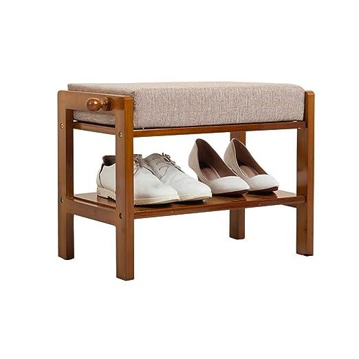 GAO XING SHOP Otomanas Zapatos de pie de bambú Acolchado ...