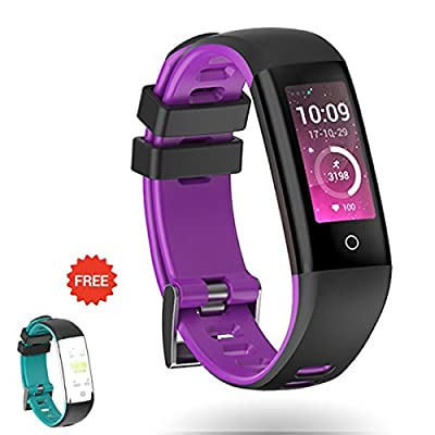 Auney Fitness Tracker Color Screen Sport Band Smart Wristband Bracelet Waterproof Activity Heart Rate Sleep Monitor Pedometer Sport Band for iOS and Android